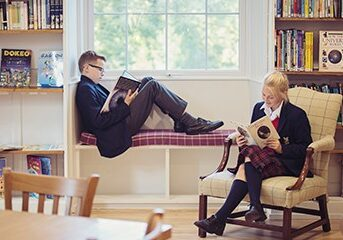 Sedbergh Prep School - Our Facilities Reading In Teh Library